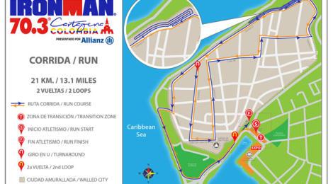 Cartagena 70.3 run course snafu