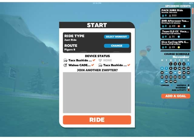 Image result for zwift menu just ride