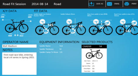 Bike Fit software mainstreams
