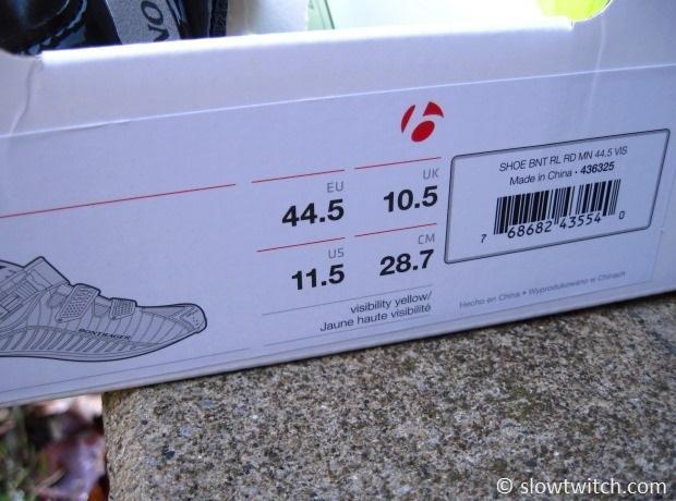Bontrager Shoe Sizing