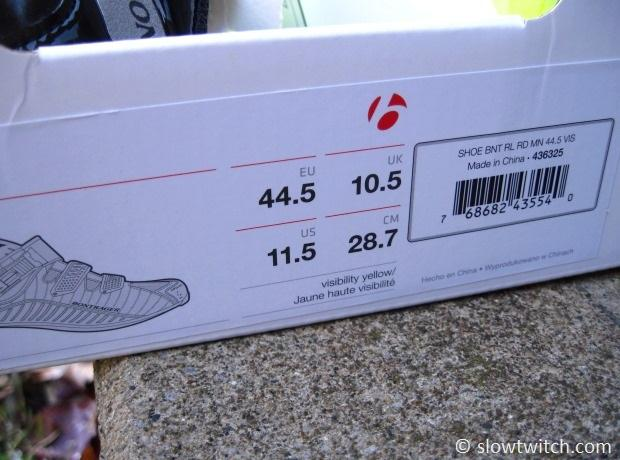 Bontrager Rl Road Shoe Size Chart