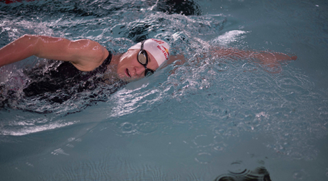 A closer look at a Daniela Ryf swim workout