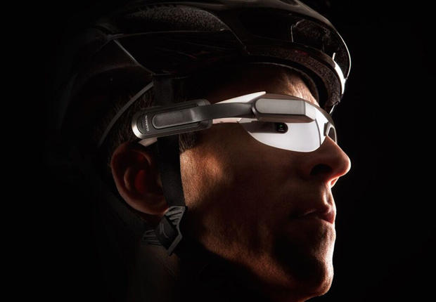 Garmin's Varia Vision headset warns cyclists about cars behind them